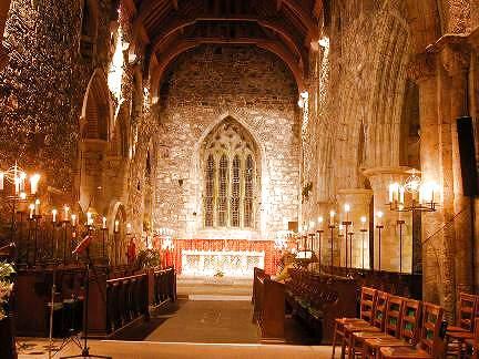 Interior de la iglesia de la abad�a