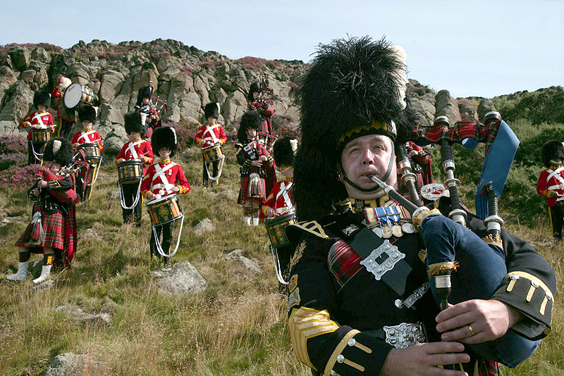 Gaiteros en Escocia