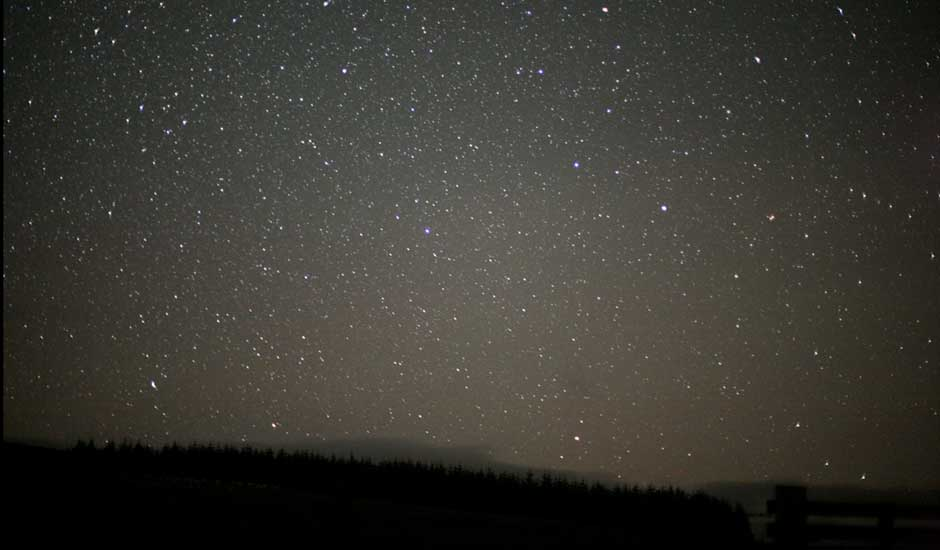Noche estrellada en Escocia