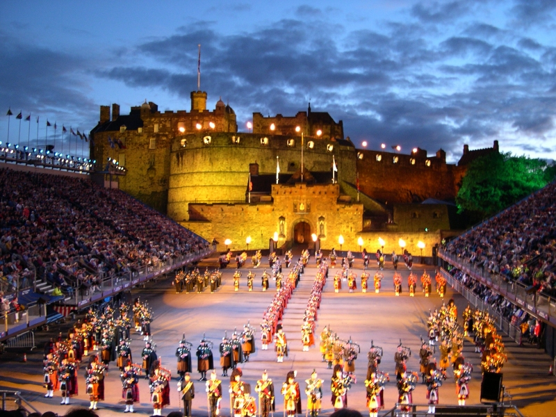 Military Tattoo, en el castillo de Edimburgo