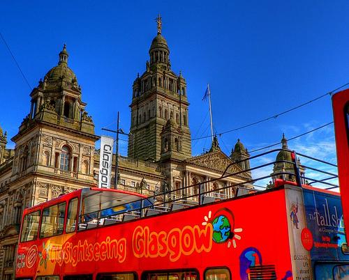 Bus turistico en Glasgow