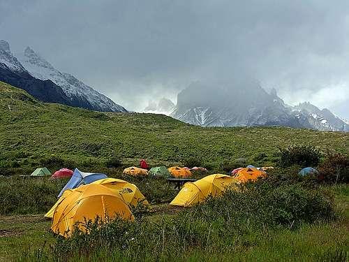 tiendas de acampada