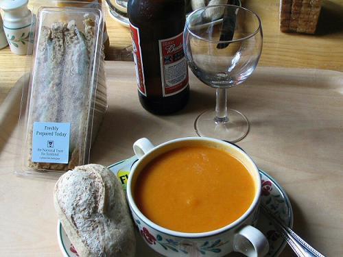 Un almuerzo ligero en Escocia