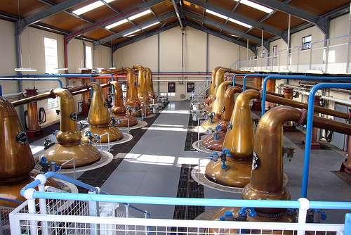 Destileria de whisky de Escocia