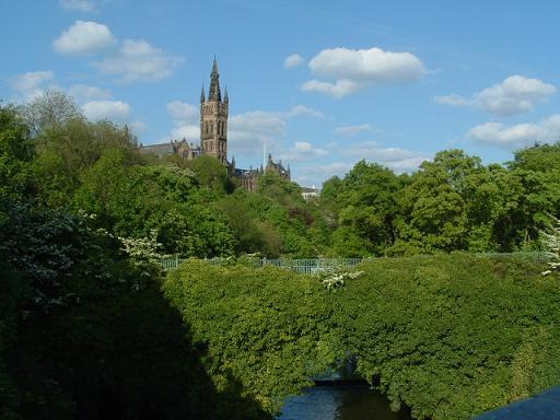 Glasgow Green y Kelvingrove Park en Glasgow