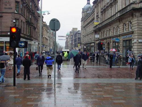 Lluvia en Glasgow