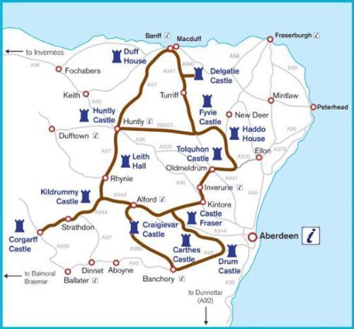 Los castillos de Aberdeen y su ruta