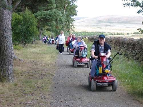 Pentland Hill Regional Park, rutas en Escocia