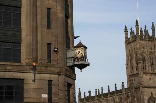 Reloj de calle en Escocia