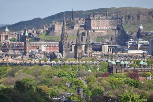 Vista de Edimburgo desde Corstorphine Hill